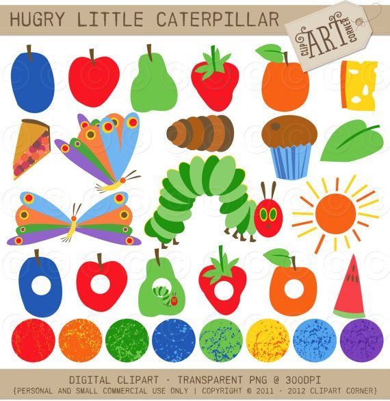 Very Hungry Caterpillar Clip Art & Very Hungry Caterpillar Clip.