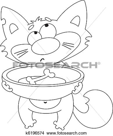 Hungry Cats Clipart