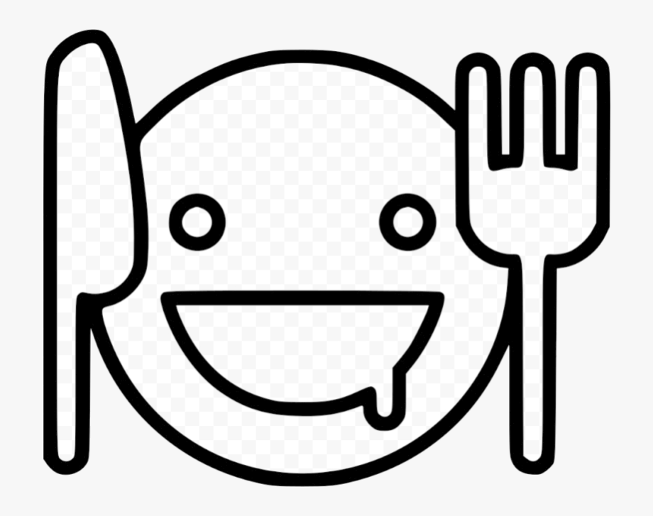 Hungry Face For Coloring Clipart Transparent Png.