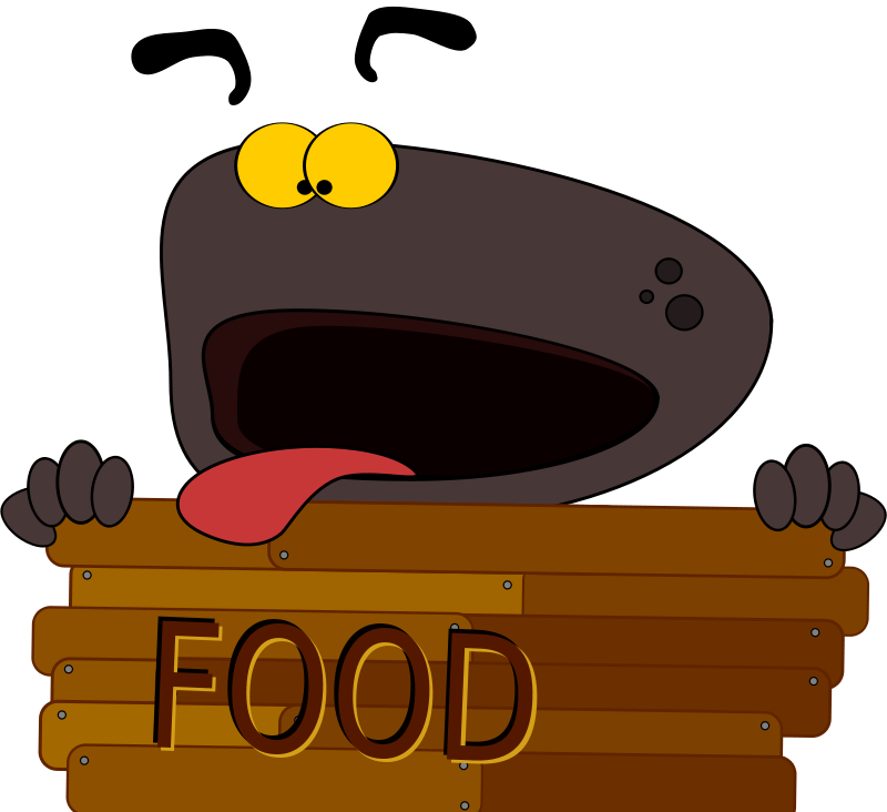 Free Clipart: Hungry Dog.