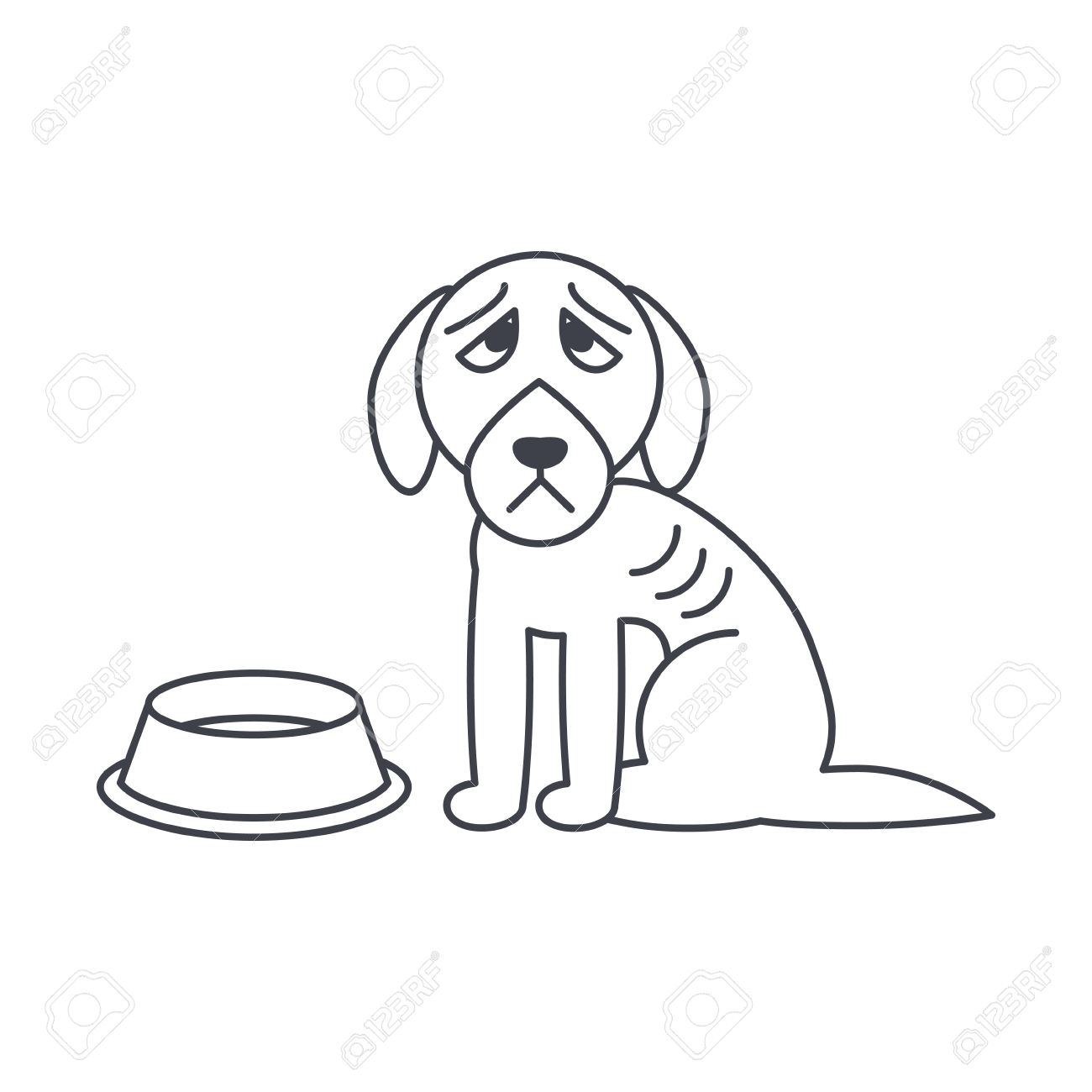 Hungry Dog Clipart.