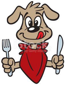 Cute Dog Hungry premium clipart.