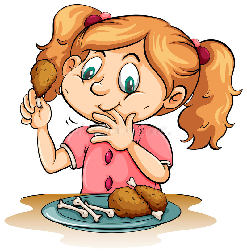 Hungry Girl Stock Illustrations.