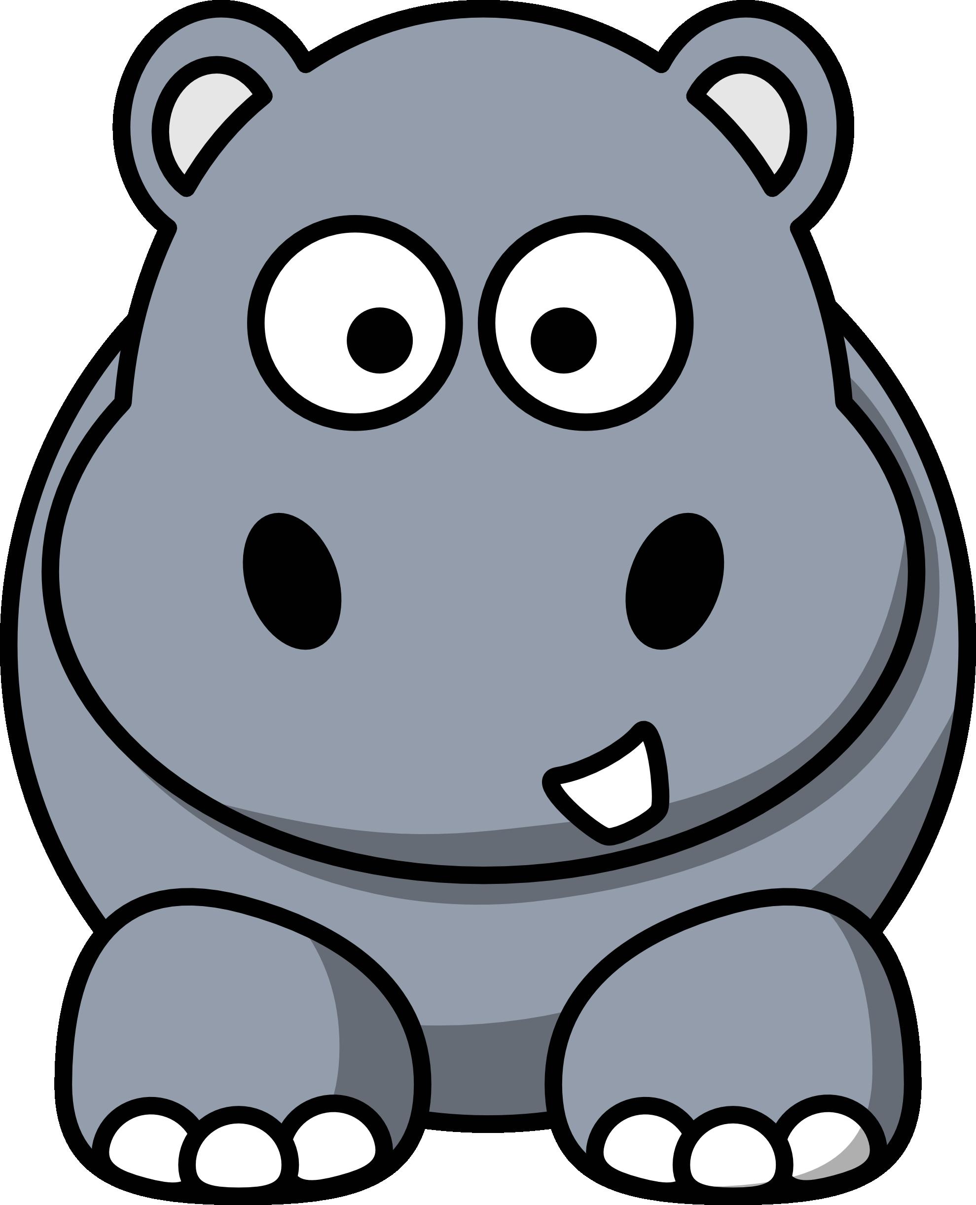 1300 Hippo free clipart.