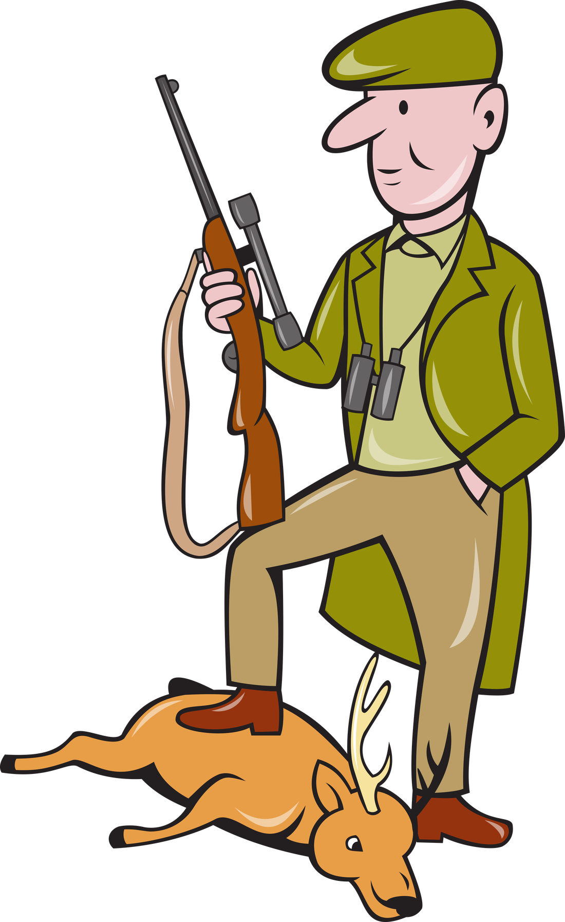Cartoon deer hunter clipart images gallery for free download.