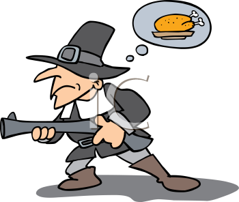 Hunting for food clipart.