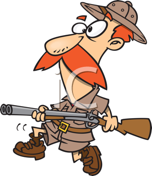 Royalty Free Clipart Image of a Big Game Hunter #445753.