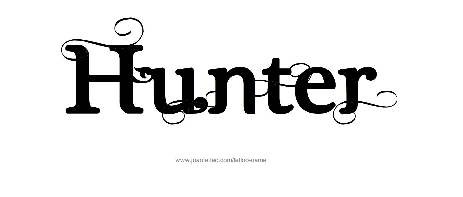 Hunter Name Tattoo Designs.