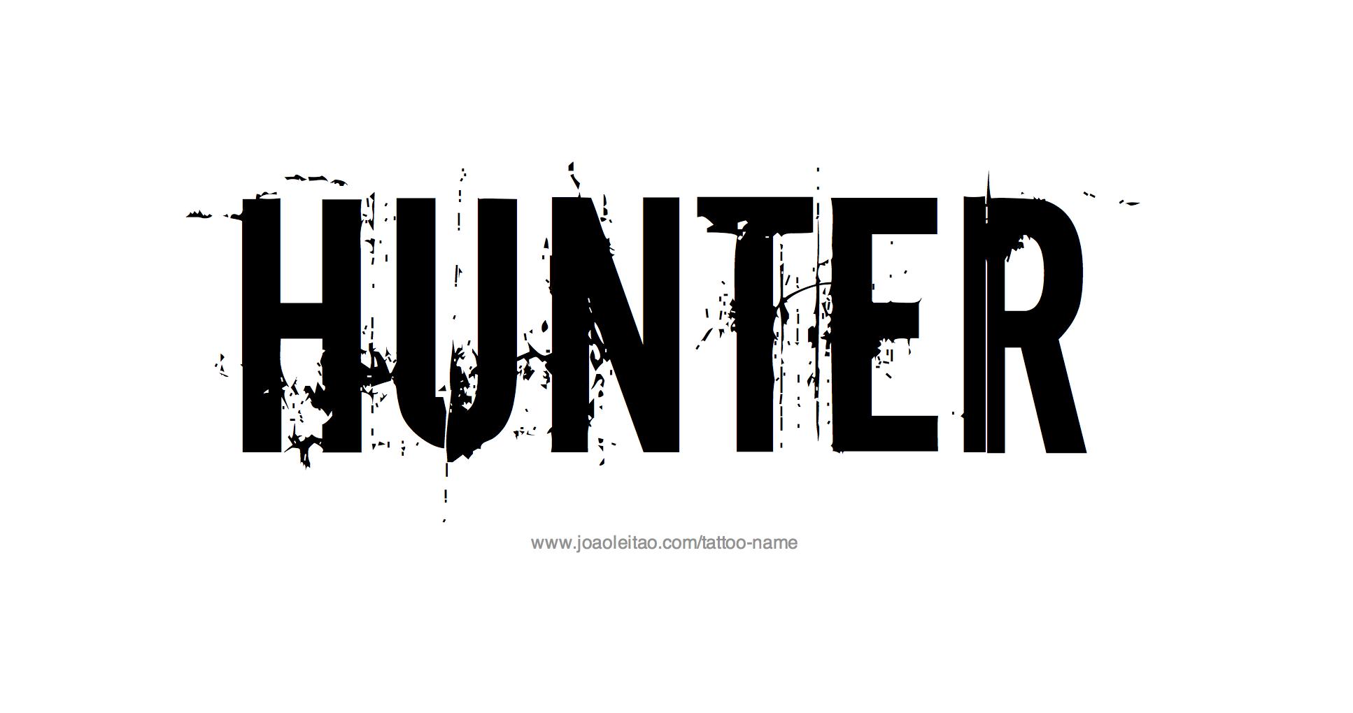 Hunter Name Tattoo Designs.