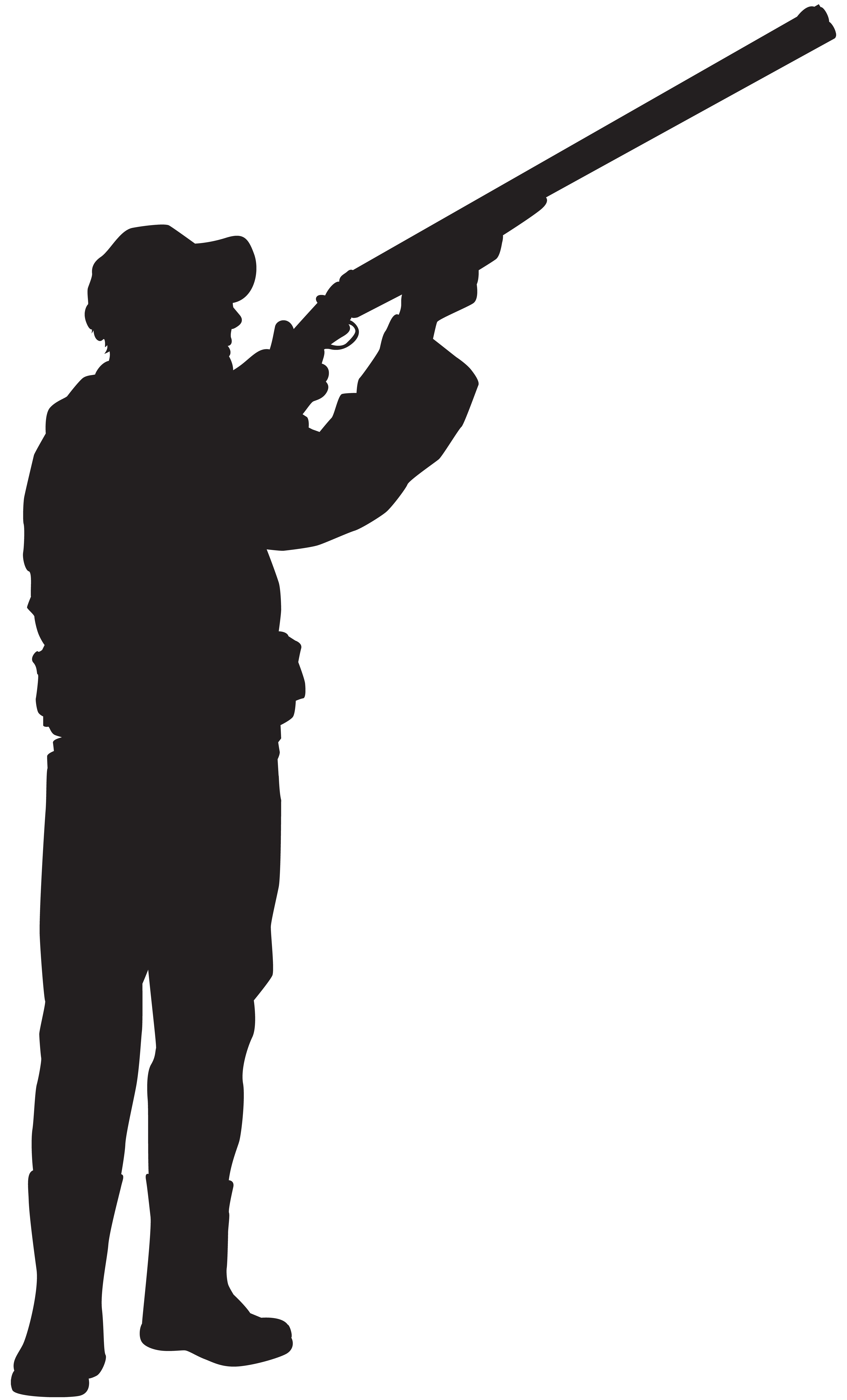 Hunter Silhouette PNG Clip Art Image.