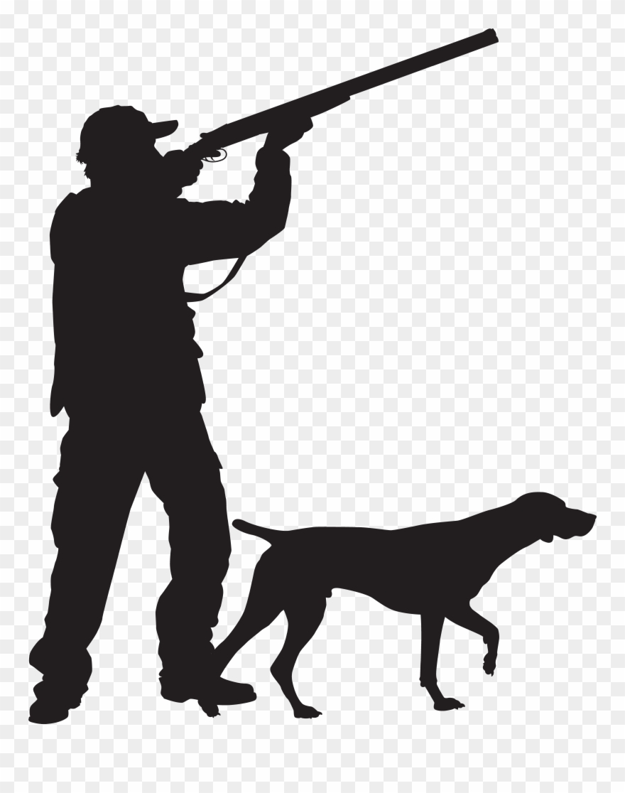Hunter With Dog Silhouette Png Clip Art Imageu200b Transparent Png.