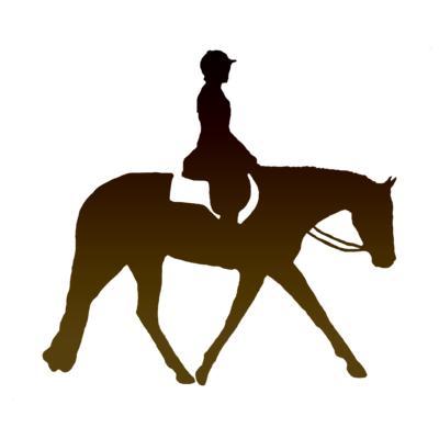 Western Pleasure Horse Silhouette.