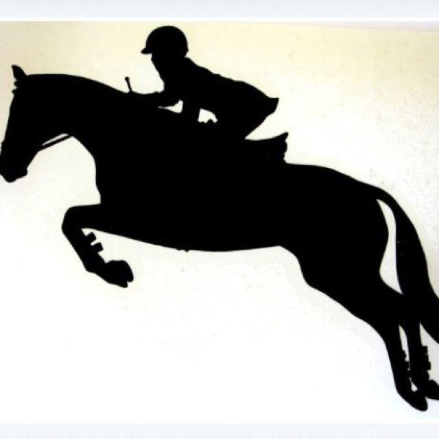 Hunter jumper clip art.