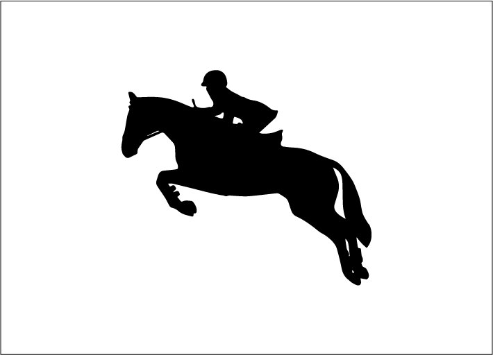 Equestrian decal.