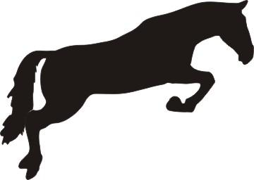 Horse jumper clipart.