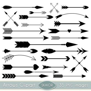 Arrows Clipart Black Arrows Clip Art Tribal Scrapbooking Aztec Native  American.