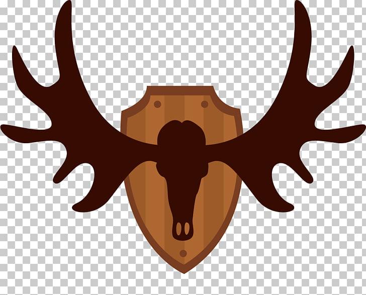 Reindeer Moose Elk Antler, Hunting deer PNG clipart.