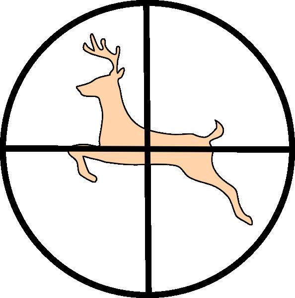 Hunting Deer clip art.
