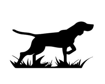 hunting dog decal stencil svg dxf file instant download silhouette.