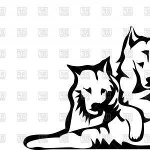 Top Hunting Dog Silhouette Vector Clipart Free Layout.