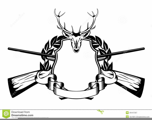 Hunting Clipart Black And White.