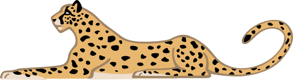 Hunting Leopard Clipart.