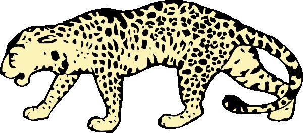 Hunting Leopard Clip Art at Clker.com.