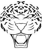 Hunting Leopard Clip Art.