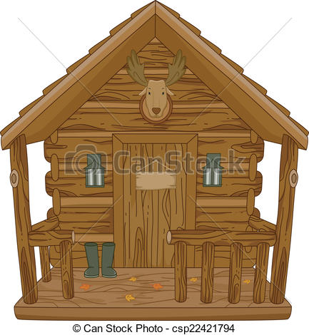 EPS Vectors of Hunting Cabin.