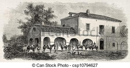 Clip Art of Hunting lodge.