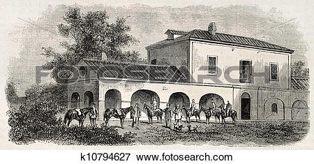 Stock Illustration of Hunting lodge k10794627.