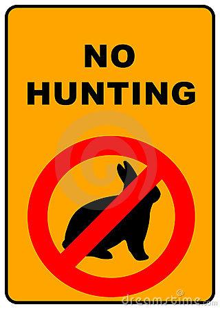 No Hunting Sign Royalty Free Stock Photos.