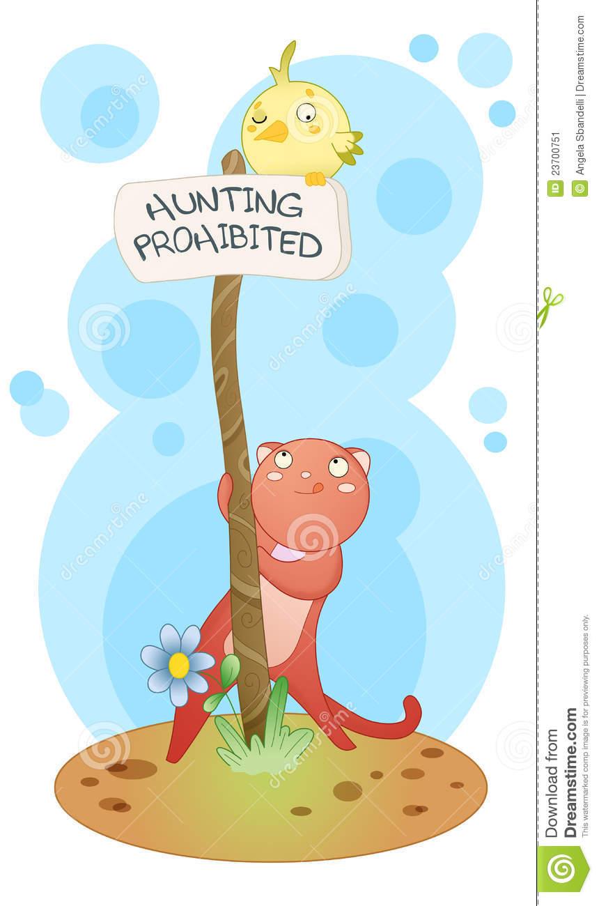 Hunting Prohibited Stock Image.