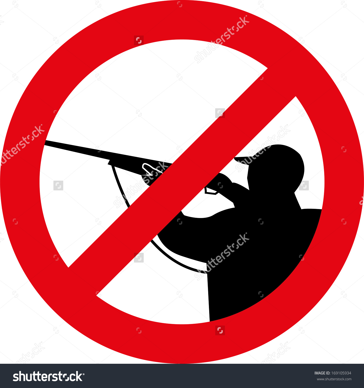 Stop Hunting Sign Stock Vector 169105934.