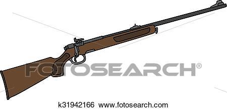 Classic hunting rifle Clip Art.