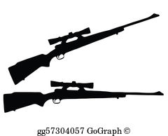 Hunting Rifle Clip Art.