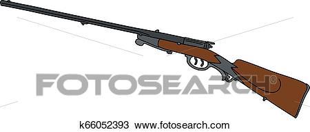 The vintage hunting rifle Clipart.