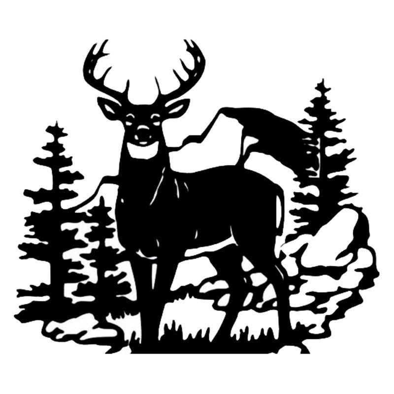 Deer Hunting Scene Art.