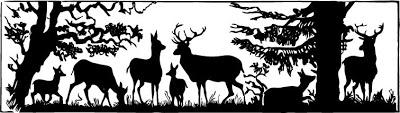 Hunting Scene Clipart.