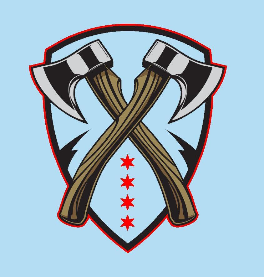 Huntsman logo with Chicago flag colors.