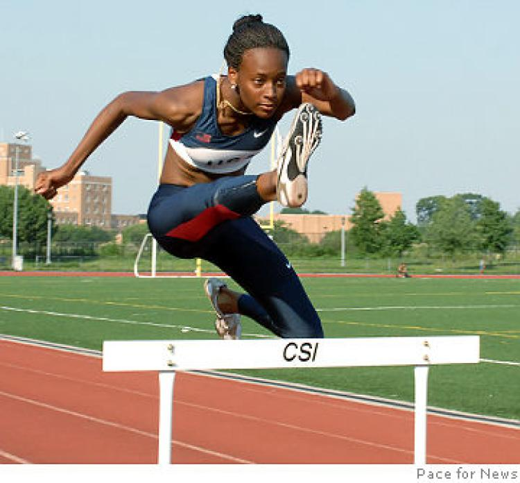 High School hurdler on fast track to Olympics.