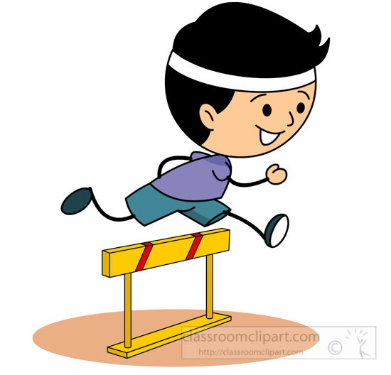 Clipart jumping hurdles.