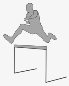 Female Clipart Hurdler.