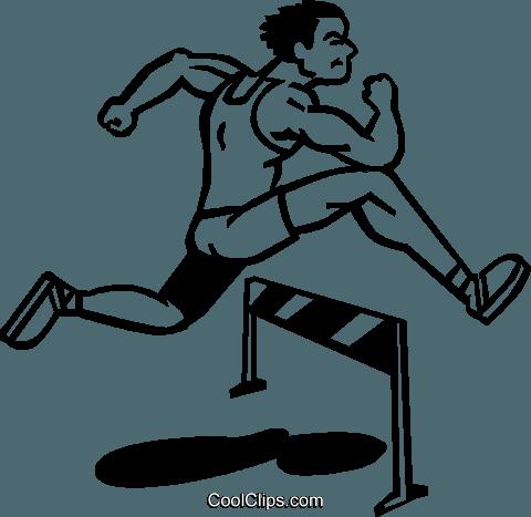 Hurdles Royalty Free Vector Clip Art illustration.