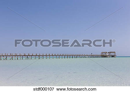 Picture of Egypt, Hurghada, view from Giftun Island to jetty at.