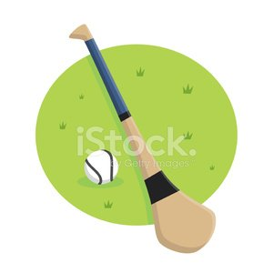 Hurley Stick Clipart Image.