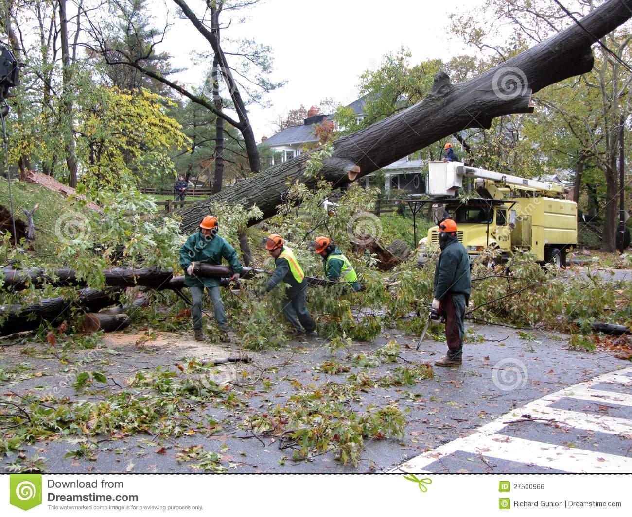 Hurricane Sandy Cleanup Editorial Photo.