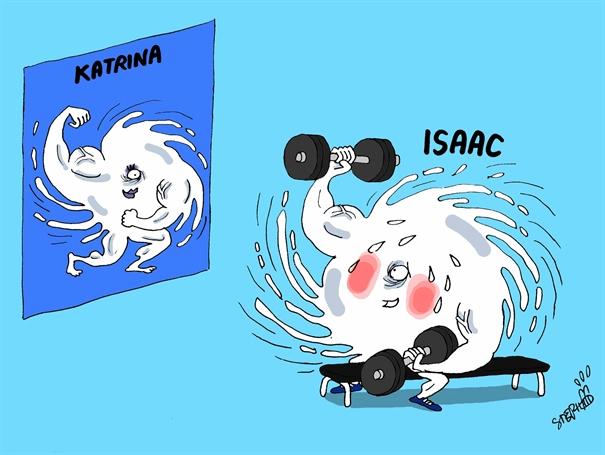 Hurricane Isaac.