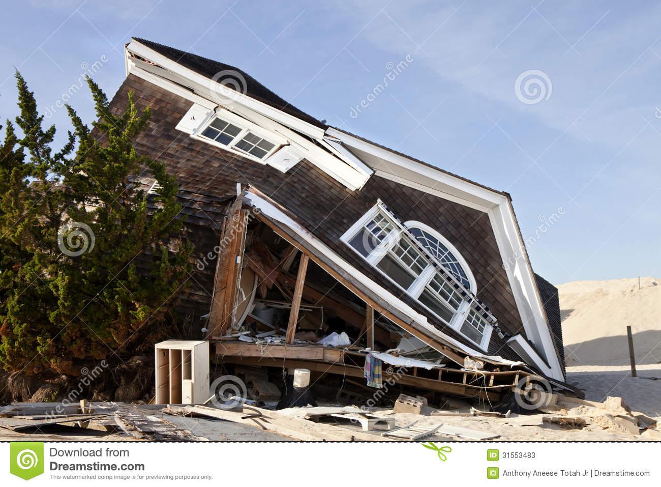 Hurricane Sandy Damage Stock Photos.
