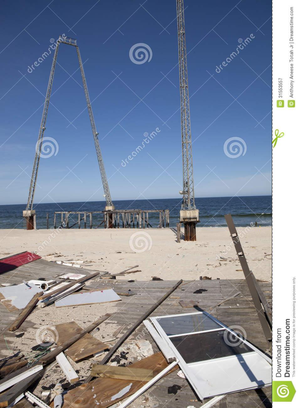 Hurricane Sandy Damage Royalty Free Stock Photography.